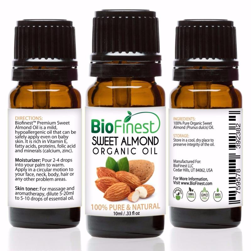 Buy Biofinest [3 Packs] Sweet Almond Organic Oil (100% Pure Organic Carrier Oil) 10ml Singapore