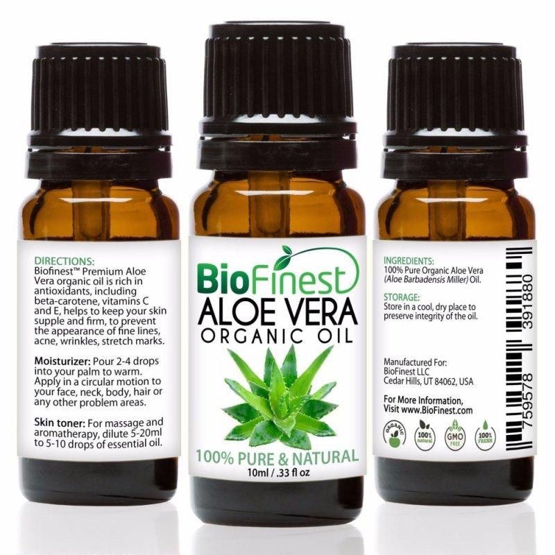 Buy Biofinest Aloe Vera Organic Oil (100% Pure Organic Carrier Oil) 10ml Singapore
