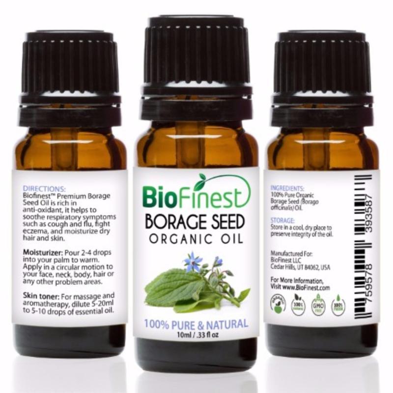 Buy Biofinest Borage Seed Organic Oil (100% Pure Organic Carrier Oil) 10ml Singapore
