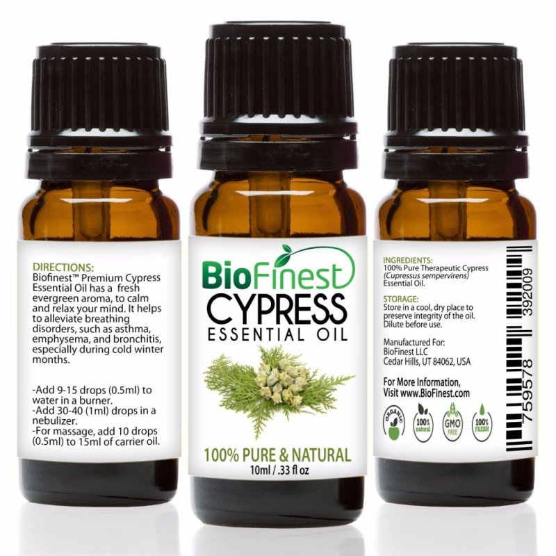 Buy Biofinest Cypress Essential Oil (100% Pure Therapeutic Grade) 10ml Singapore