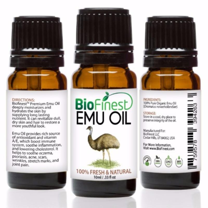 Buy Biofinest Emu Organic Oil (100% Pure Organic Carrier Oil) 10ml Singapore