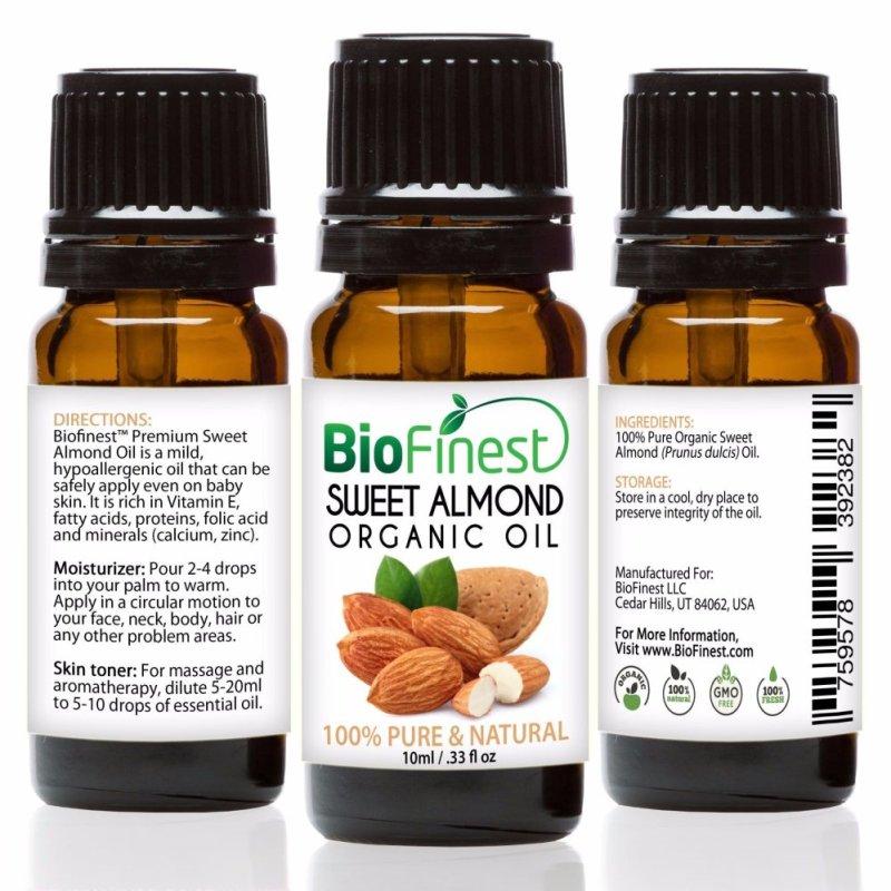 Buy Biofinest Sweet Almond Organic Oil (100% Pure Organic Carrier Oil) 10ml Singapore