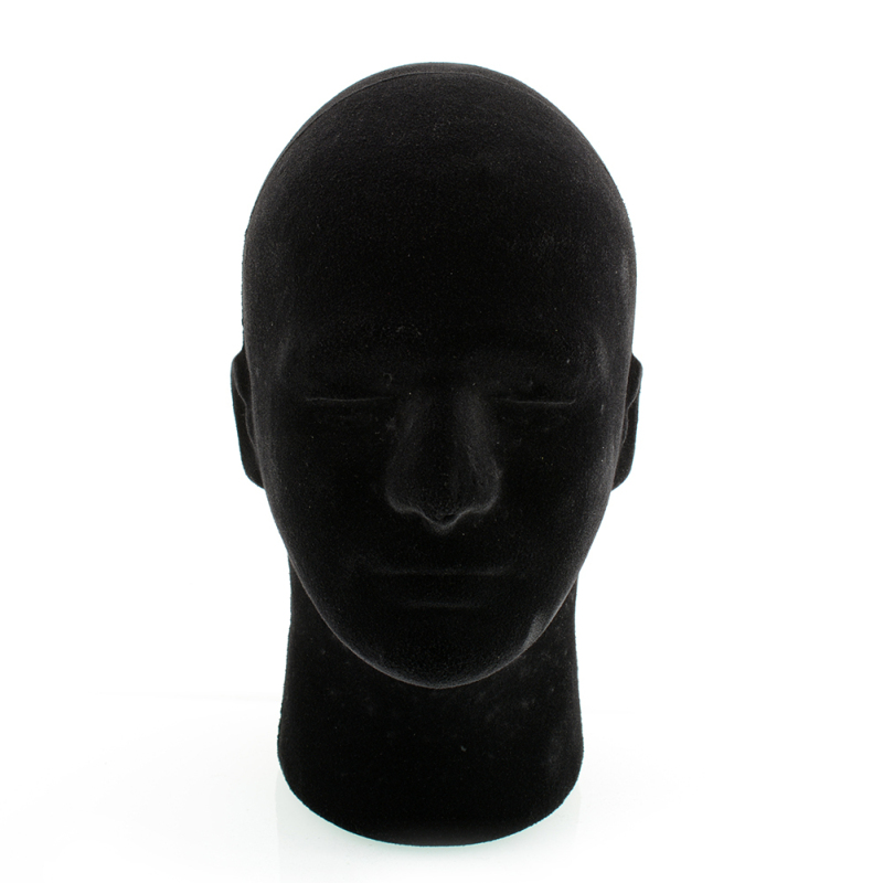 Buy Black Styrofoam Foam Mannequin Manikin Head Model hair Glasses Hat 54cm - intl Singapore