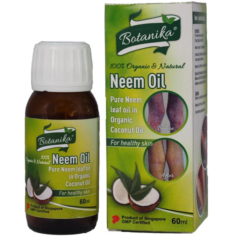 Buy Botanika Neem Oil 100% Organic & Natural 60ml Singapore