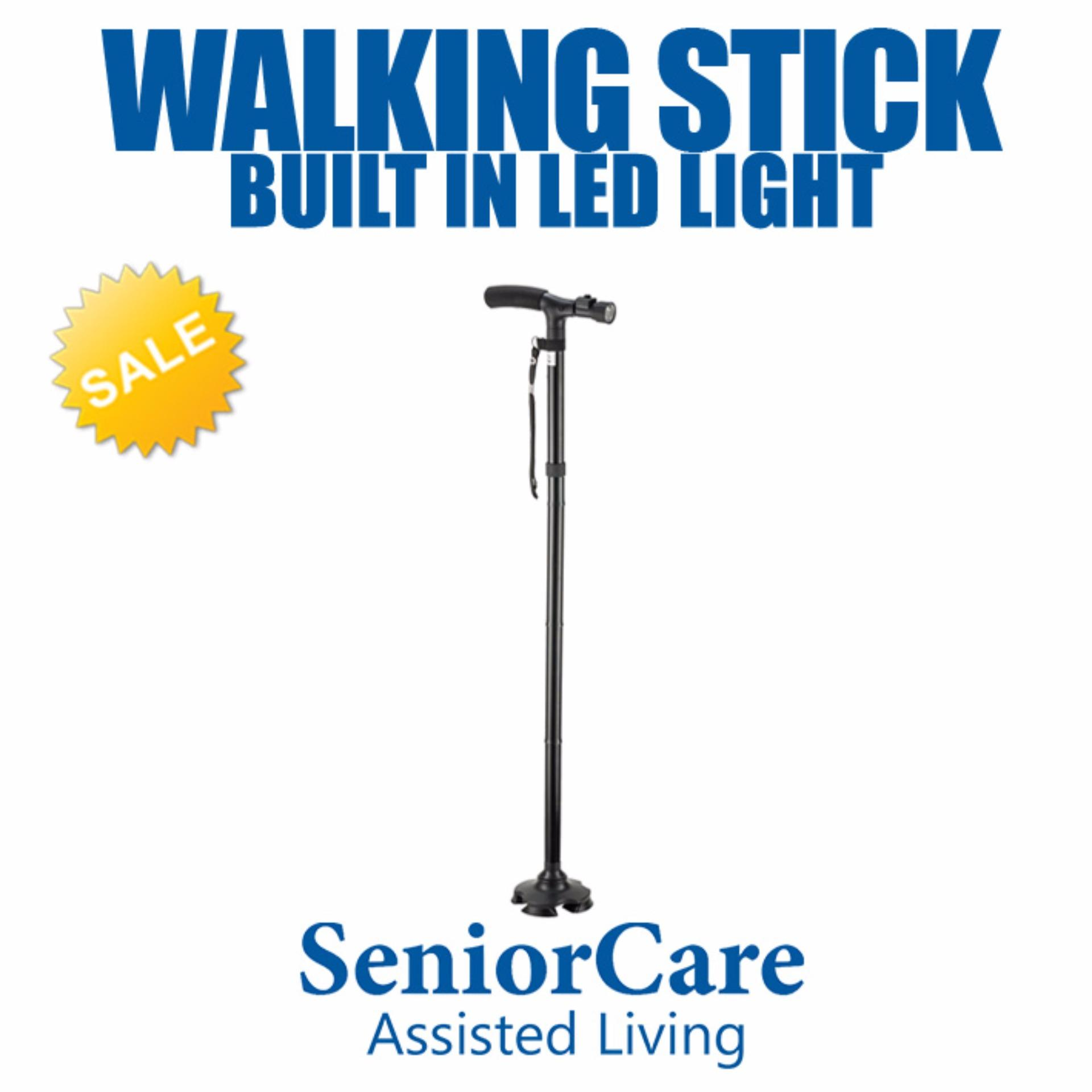 Buy Built-in LED Lightweight Adjustable Height Walking Stick