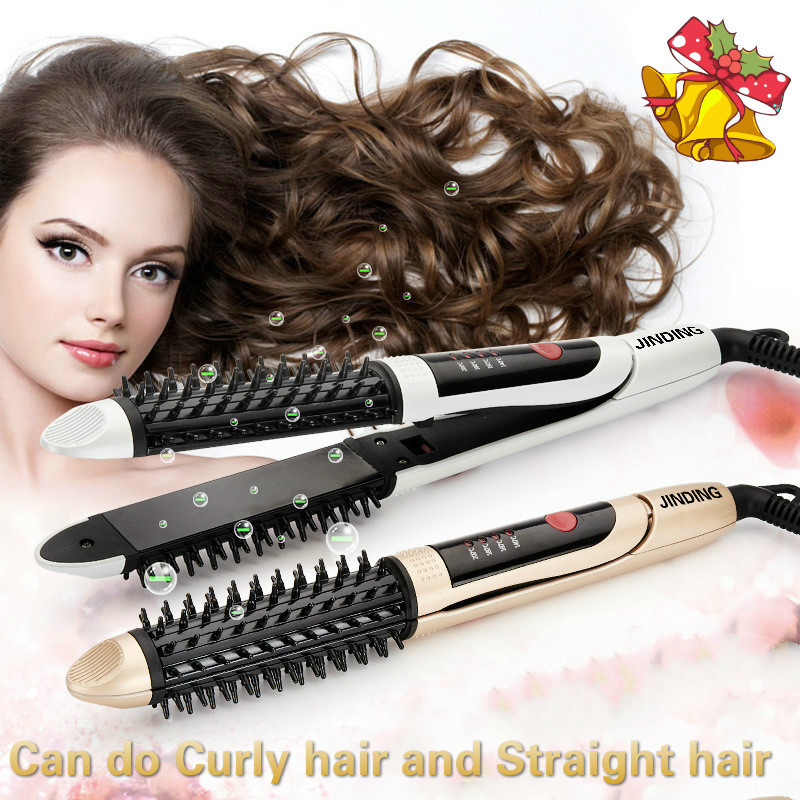Buy Ceramic Curling Hair Straightener Hair Curler 28mm Thermostat (White) - intl Singapore