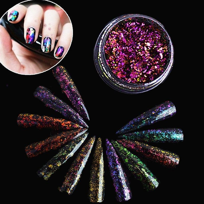 Buy Chameleon Starry Sky Magic Mirror Powder Sparkly Glitter Super Thin Sequins - intl Singapore