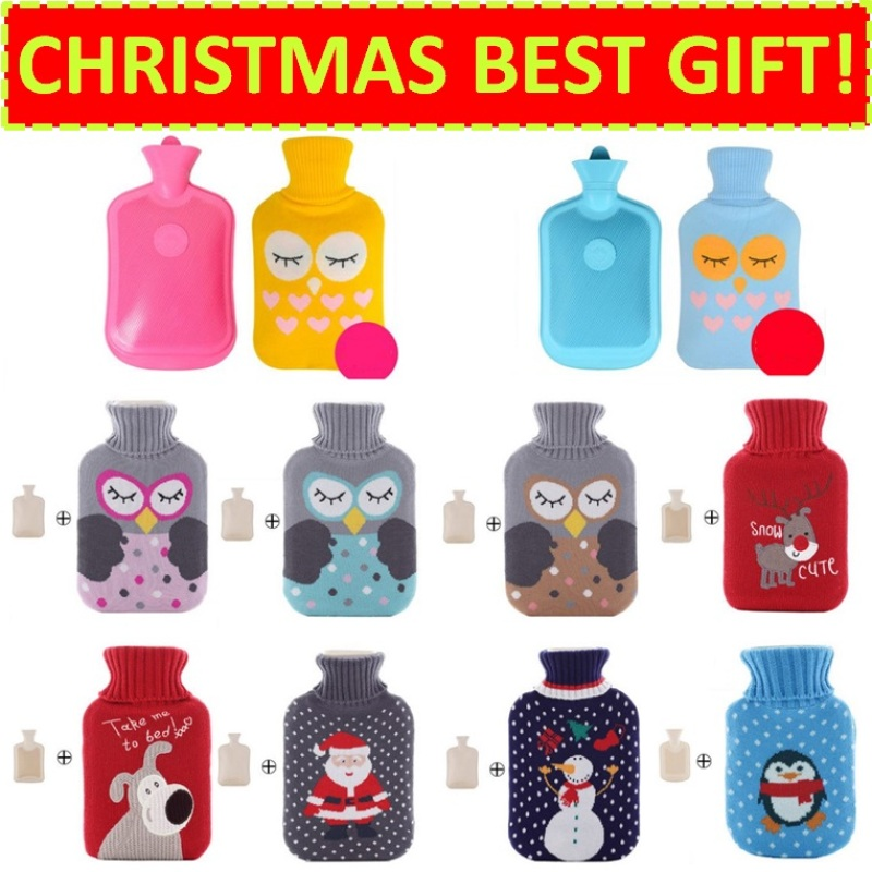 Buy ★Christmas Best Gift★ Hot Water Bag / Warmer Pack for Winter and Travel / Heat Pack / Heated Pad / Pillow / Cushion for Office (Winter Pink) Singapore