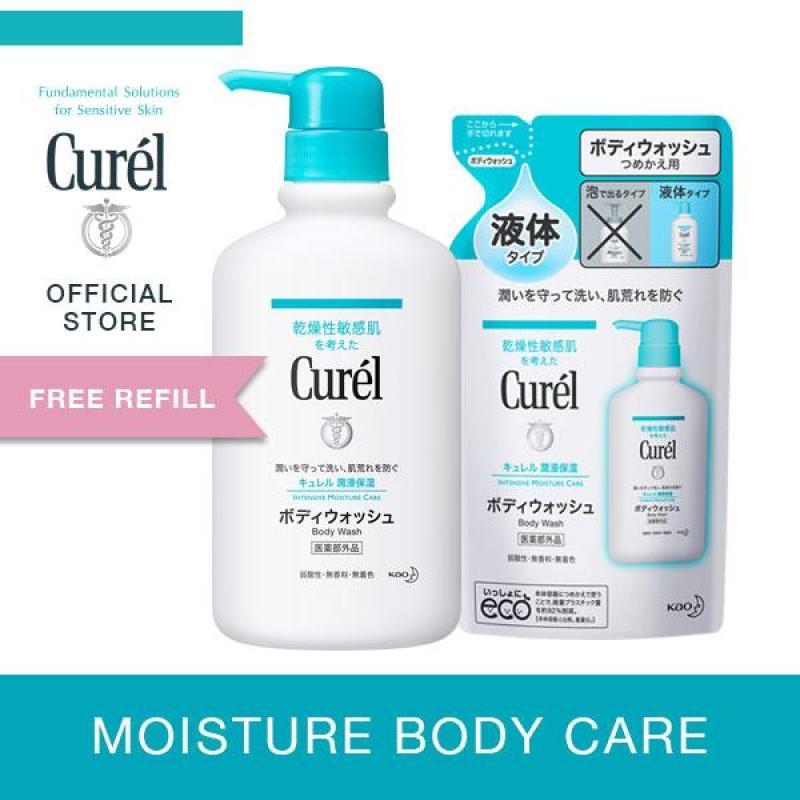 Buy Curel Body Wash 420ml + Free Refill 360ml Singapore