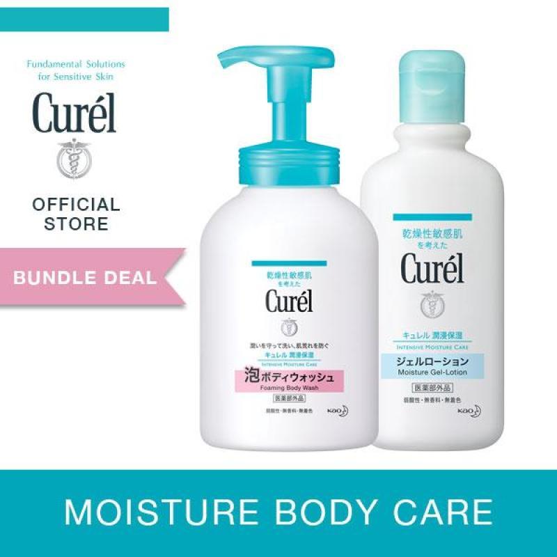 Buy Curel Instant Foaming Body Wash 480ml + Moisture Gel Lotion 220ml Singapore