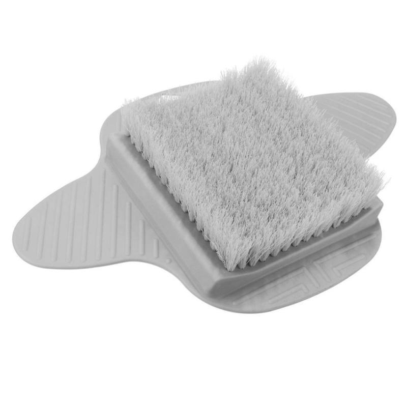 Buy Cyber Clearance Sale Bath Foot Cleaner Scrubber Exfoliating Scrub Brush Massager Feet Washer w/ Sucker( Grey ) - intl Singapore