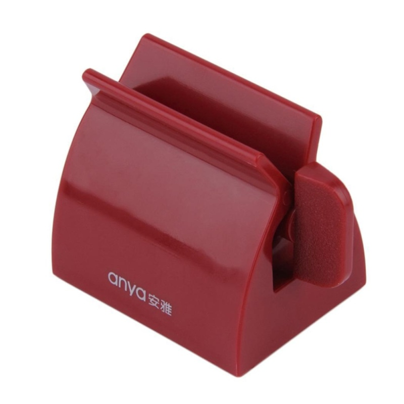 Buy Cyber Rolling Tube Dispenser Brush Toothbrush Holder Toothpaste Squeezer ( Red ) - intl Singapore