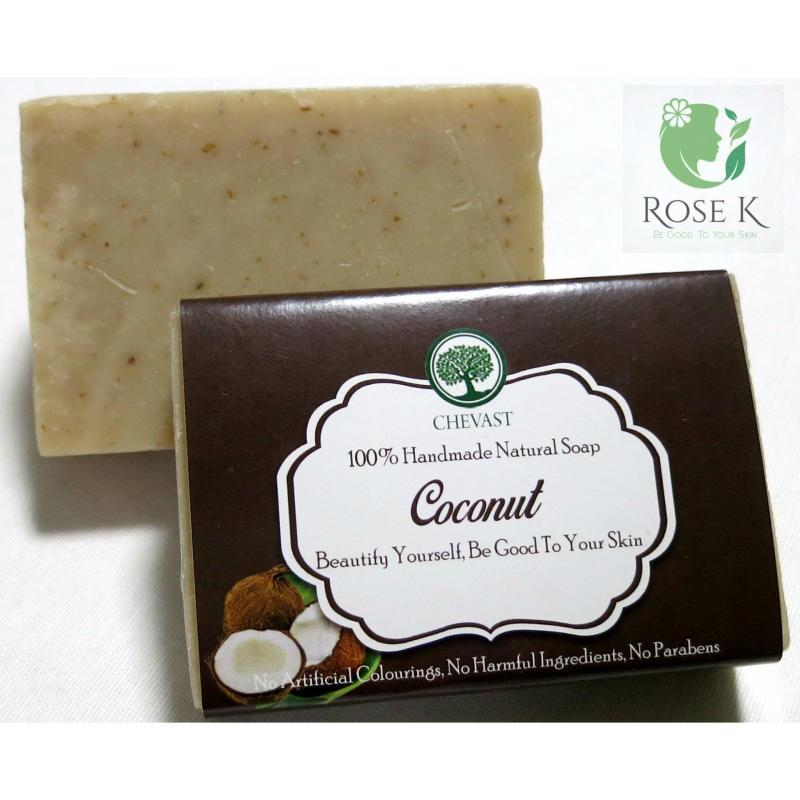 Buy Deep Moisturizing Coconut Handmade Soap Bar for Very Dry, Acne, Dull skin by RoseK Singapore