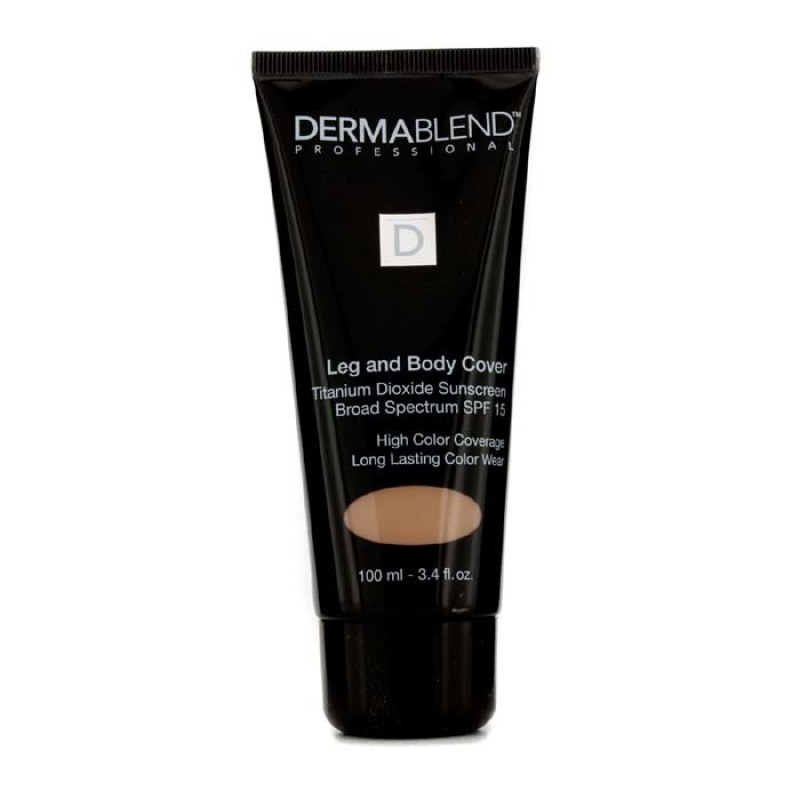 Buy Dermablend Leg & Body Cover Broad Spectrum SPF 15 (High Color Coverage & Long Lasting Color Wear) - Medium 100ml/3.4oz Singapore