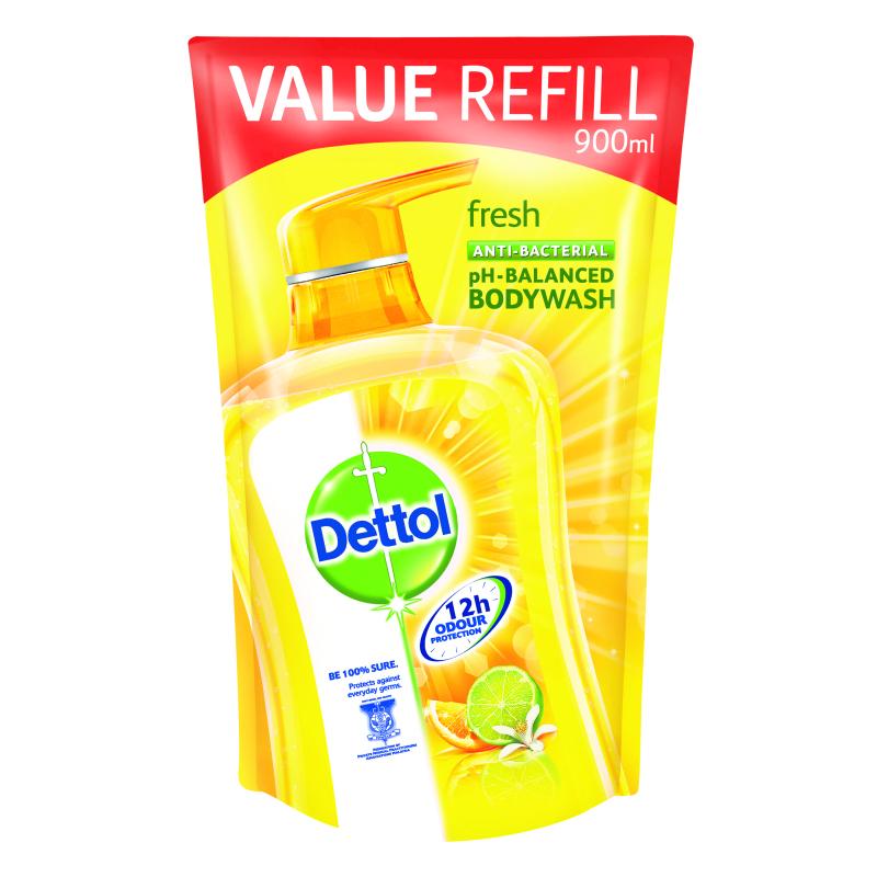 Buy Dettol Body Wash Pouch Fresh 900Ml Singapore