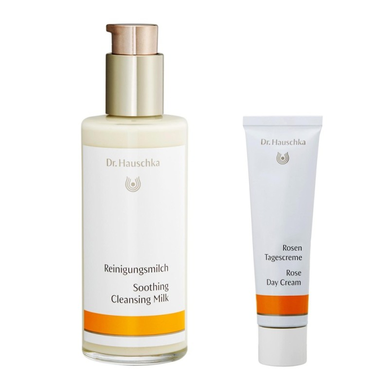 Buy Dr. Hauschka Set (Rose Day Cream 30ml/1oz + Dr. Hauschka Soothing Cleansing Milk 145ml/4.9oz) - intl Singapore