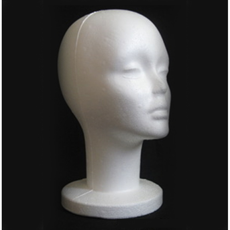 Buy Female Styrofoam Foam Manikin Head Mannequins Model Glasses Hat head mould - intl Singapore