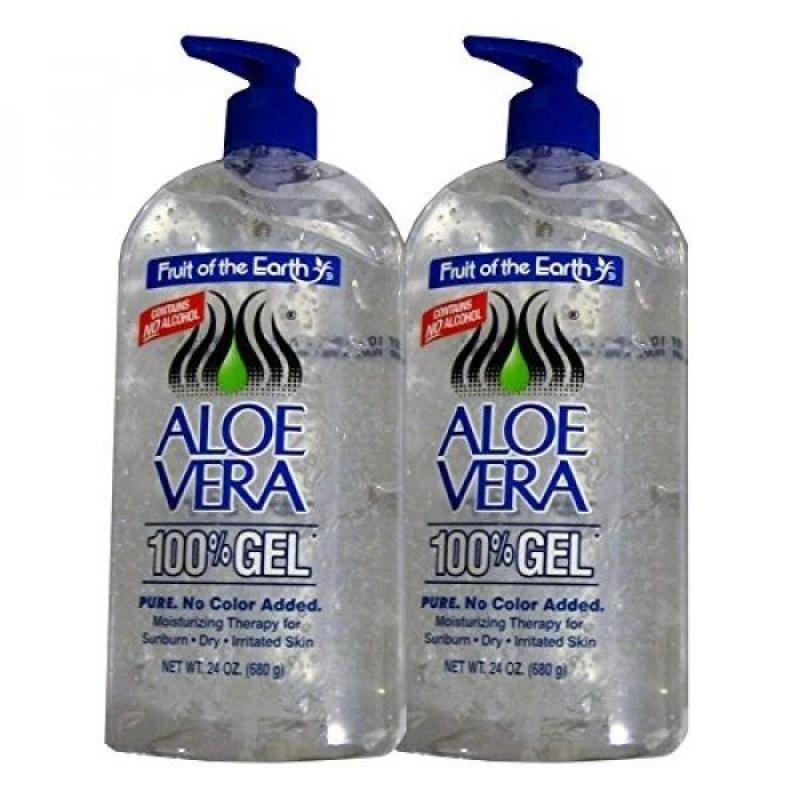 Buy Fruit Of The Earth Aloe Vera 100% Gel, Crystal Clear - 24oz 2 Pack - intl Singapore