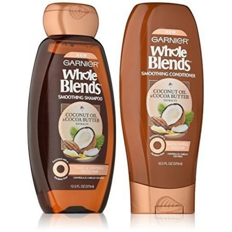 Buy Garnier Whole Blends Coconut Cocoa Butter Shampoo and Conditioner 12 ounces each - intl Singapore
