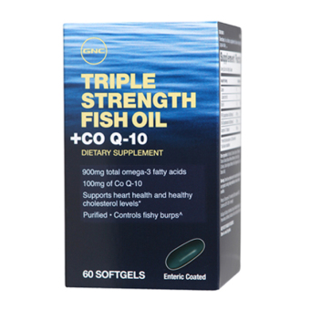Harga GNC Triple Strength Fish Oil with Co Q-10 60's