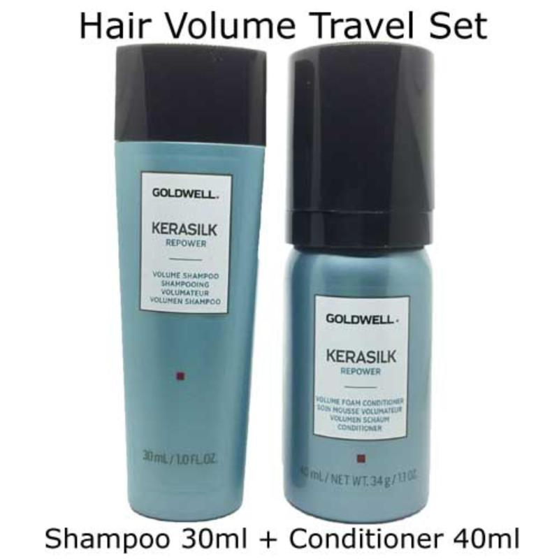 Buy Goldwell Kerasilk Hair Repower Volume Shampoo and conditioner Travel Set Singapore