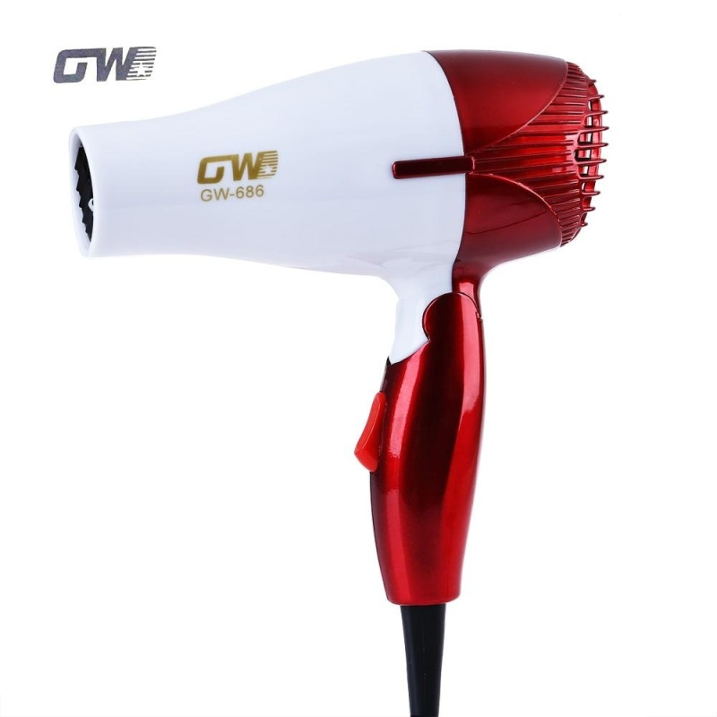 Buy GUOWEI Mini Foldable Portable Traveller Compact Blower Hair Dryer (Red) - intl Singapore