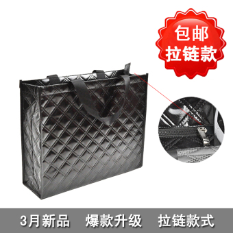 High-end non-woven cloth hot selling hot zip tote bag
