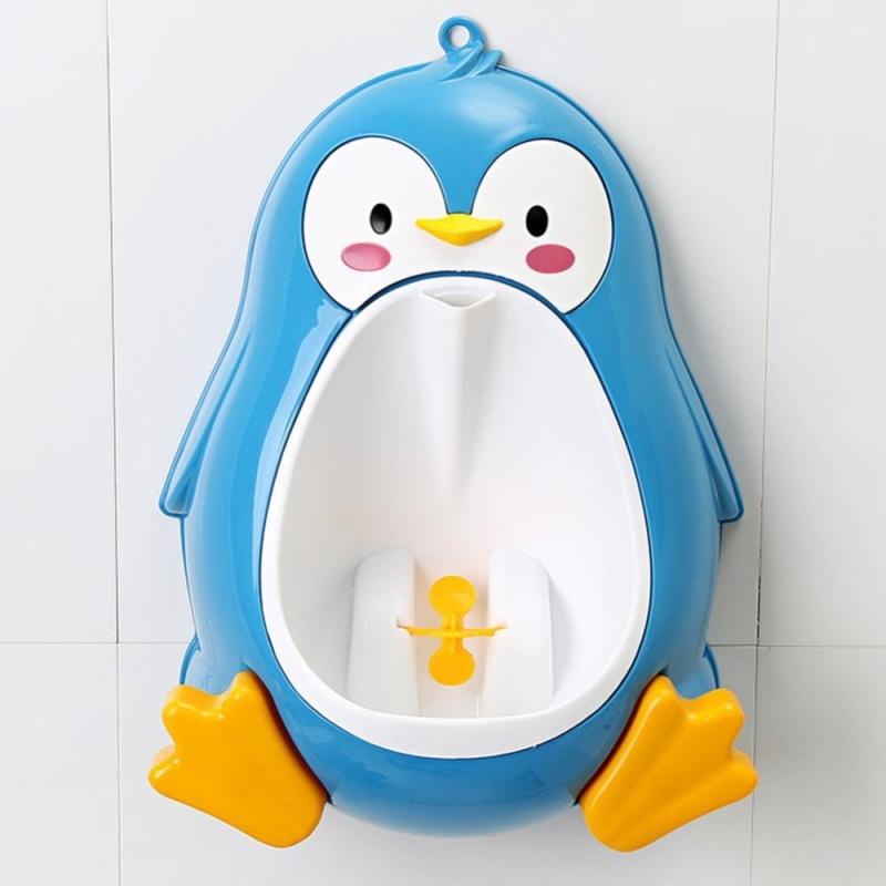 Buy iBelieve Children Baby Boy Penguin Stand Vertical Urinals Potty Pee Toilet (Blue) - intl Singapore
