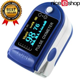 Harga niceEshop Finger Pulse Oximeter Finger Oxygen Meter With Pulse Rate Monitor, Blue