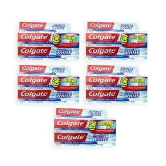 Harga Colgate Advance Whitening Toothpaste 2x160g+90g (5 Sets) - 1201