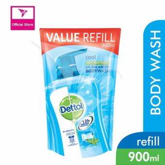 Harga Dettol Body Wash Pouch Cool 900Ml