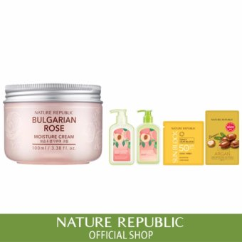 Harga Nature Republic Bulgarian Rose Moisture Cream Super Size(100ml)