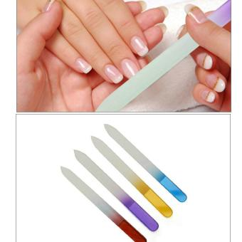 Harga 10x Crystal Glass Nail File Nail Drop Nail Polish Bar Polishing Manicure Tool - intl