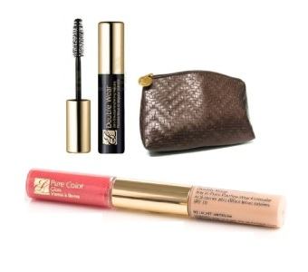 Harga Estee Lauder Duo Lip Gloss Concealer Mascara and Pouch