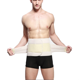 HOT Men Abdomen Shaper Waist Tummy Cincher Trimmer Girdle Belt Burn Fat Slimming Khaki M