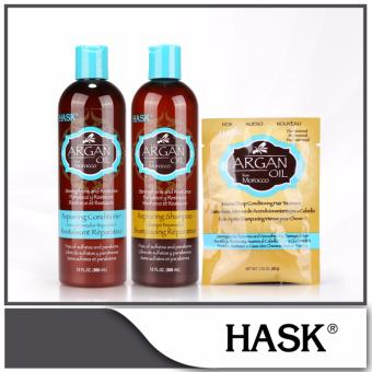 Harga Hask Argan Oil from Morocco Repairing Hair Care Set