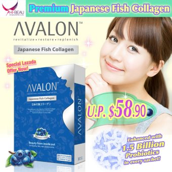 Harga AVALON Japanese Fish Collagen (Blueberry)