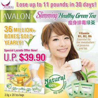 Harga AVALON Slimming Healthy Green Tea