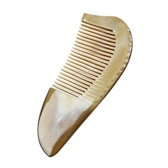 Natural Ox Horn Anti-Static Hair Comb With Handle - intl