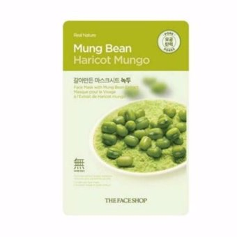 Harga The Face Shop Real Nature Face Mask (Mung Bean) 1 Piece