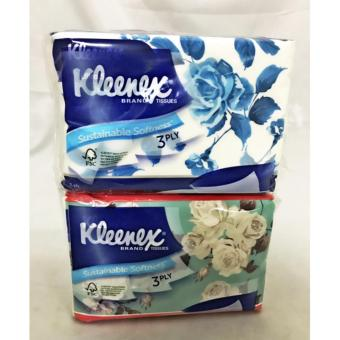 Harga Twins pack Kleenex soft pack 4x50's - 3ply Floral