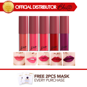 Harga BBIA Last Lip Mousse No.01 FIRST DATE + Free 2 Pcs 3WClinic Mask Pack [Buy 1 Get 1 Freebie]