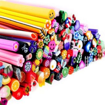 Fang Fang 100Pcs 3D Designs Nail Art Fimo Canes Sticks Rods Gel Tips Manicure Decorations(Random Color) - 2