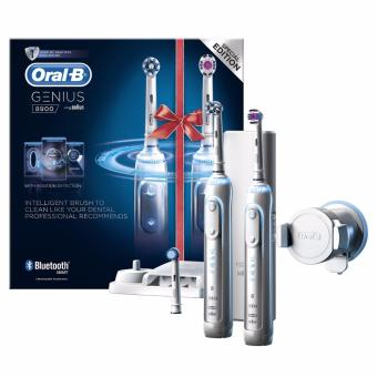 Harga Oral-B Genius 8900 Electric Rechargeable Toothbrush Powered by Braun - Two Handle Pack