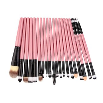 Harga Beau Professional New set of 20 pieces brushes pack complete make-up brushes - intl