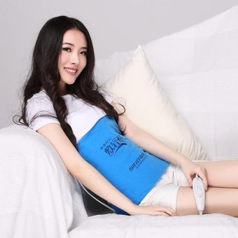 Harga Electric far infrared heating warm pad waist belly and body care mat Abdominal belt - intl