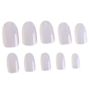 Harga LALANG 600Pcs Nail Art Fake Full Cover Artificial Nail Tips Acrylic Gel False Nails (Clear)