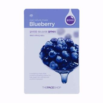 Harga The Face Shop (BlueBerry) Real Nature Face Mask 1 Piece
