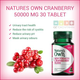 Harga Nature's Own Cranberry 50000mg 30 Capsules