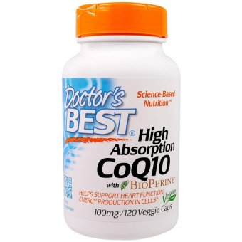 Harga Doctor's Best High Absorption CoQ10 with BioPerine (Black Pepper Extract) ★ 100mg/120 Veggie Caps ★ Best Price in SG ★主治心脏疾病和全身保健